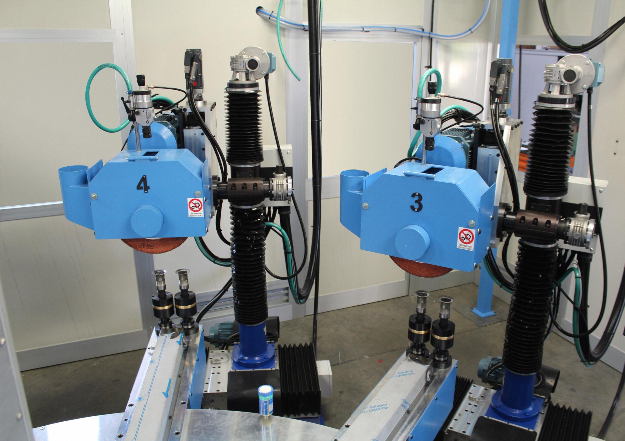 TR+CPL +CSL Tavola rotante a scatti con unità di smerigliatura CSL e pulitura CPL